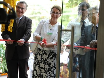 Ribbon cutting ceremony | © Frauscher Sensor Technology